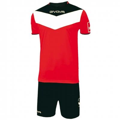 Echipament fotbal KIT CAMPO Givova negru rosu