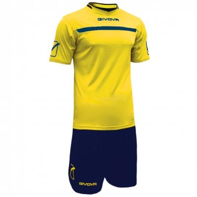 Echipament fotbal KIT ONE Givova galben albastru