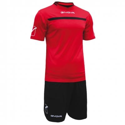 Echipament fotbal KIT ONE Givova rosu negru