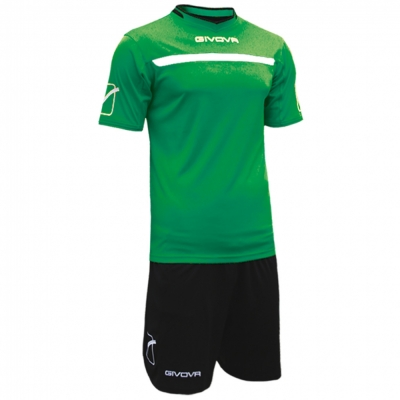 Echipament fotbal KIT ONE Givova verde negru
