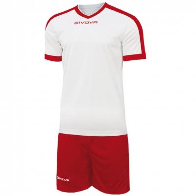 Echipament fotbal KIT REVOLUTION Givova alb rosu