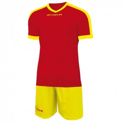 Echipament fotbal KIT REVOLUTION Givova rosu galben