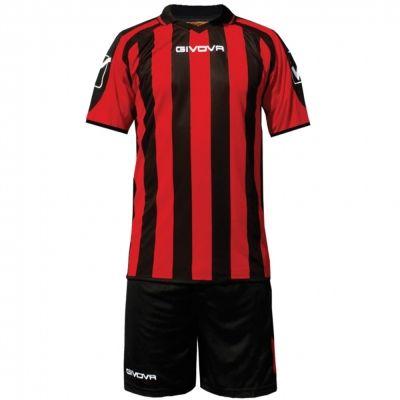 Echipament fotbal KIT Suporter MC Givova negru rosu