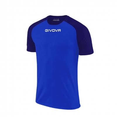 Echipament fotbal SHIRT CAPO MC Givova albastru