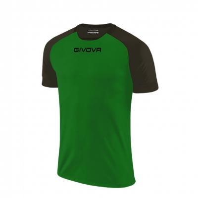 Echipament fotbal SHIRT CAPO MC Givova verde negru
