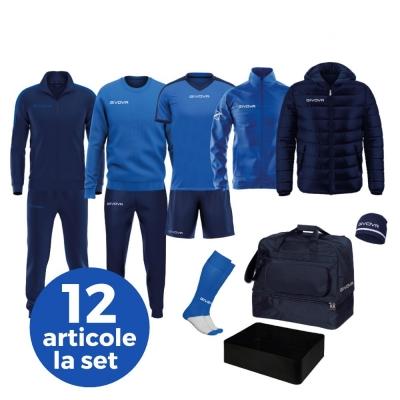 Echipament complet fotbal BOX REVOLUTION Givova albastru