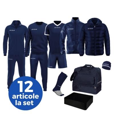 Echipament complet fotbal BOX REVOLUTION Givova albastru alb