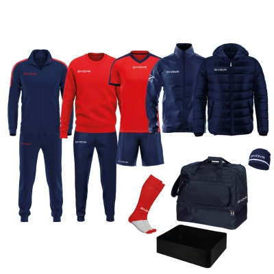 Echipament complet fotbal BOX REVOLUTION Givova albastru rosu