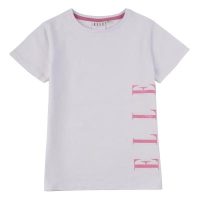 Tricou cu imprimeu Elle bright alb