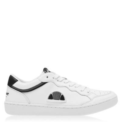 Ellesse Ellesse Archivium Retro din piele Sneakers alb negru gri