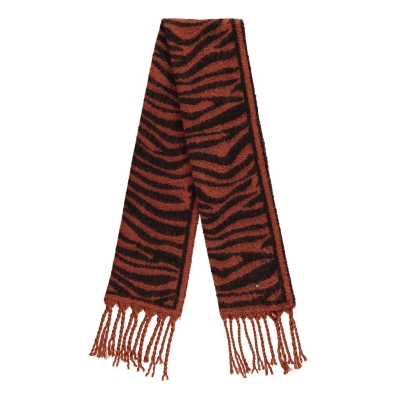 Esarfa Biba imprimeu zebra Blanket portocaliu
