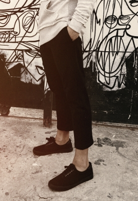 Espadrile cu siret negru-negru Urban Classics