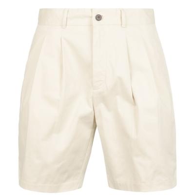Pantaloni scurti Farah Vintage ARCHV Pleated galben