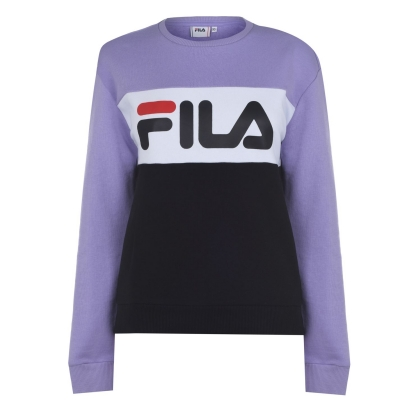 Bluze cu guler rotund Fila Leah pentru Femei negru mov