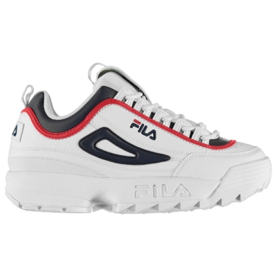 Adidasi sport Fila Disrupter Low Version off alb bleumarin