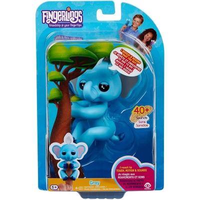 Fingerlings Monkey Toy elefant gri