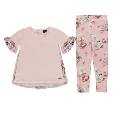 Colanti Set Firetrap 2 Piece pentru fete pentru Bebelusi lotus floral