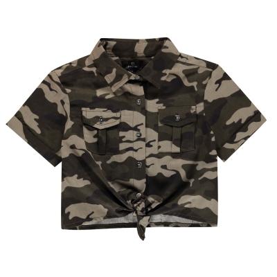 Firetrap Camo Shirt pentru fete camuflaj