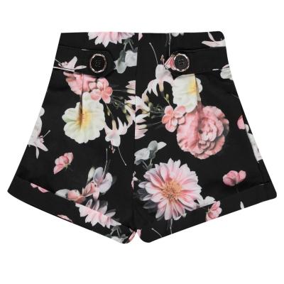 Pantaloni scurti Firetrap Crepe pentru fete pentru Bebelusi albastru floral