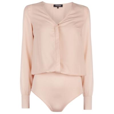 Firetrap cu Maneca Lunga Bodysuit soft roz
