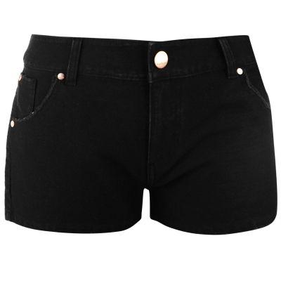 Pantaloni scurti Firetrap Denim Cut Off pentru Femei negru