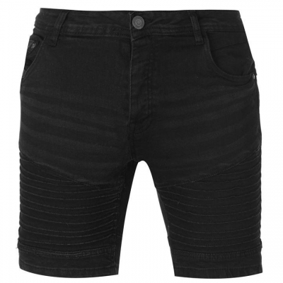 Pantaloni scurti blugi Firetrap Detail negru lasikech