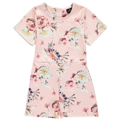 Firetrap Jersey Floral Play Suit pentru fetite mov