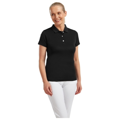 Tricouri Polo Footjoy Stretch Pique pentru Femei negru