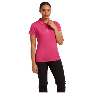 Tricouri Polo Footjoy Stretch Pique pentru Femei roz inchis
