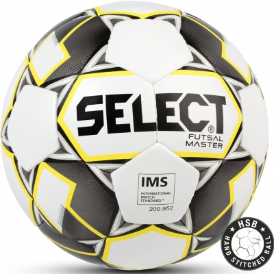 Minge fotbal Select Futsal Master IMS 2018 Hall alb-galben-negru copii