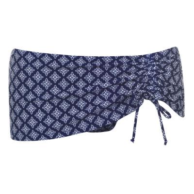 Slipi baie Full Circle Tie bleumarin geo print