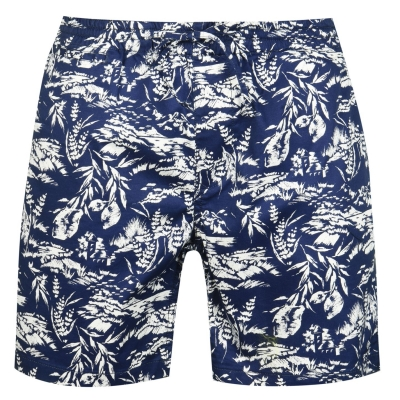 Pantaloni scurti Gant Relaxed Print bleumarin