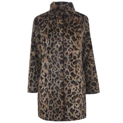 Geaca catifea Chrissie leopard multicolor