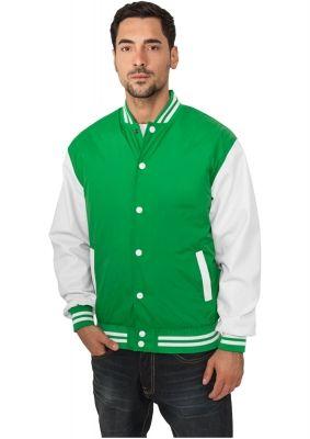 Geaca colegiu subtire verde-alb Urban Classics