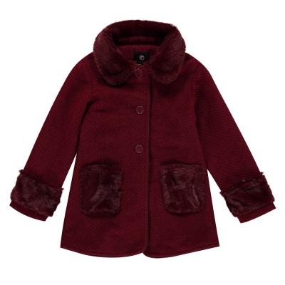Geaca Firetrap Wool pentru fete pentru Bebelusi visiniu