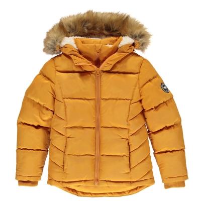 Geaca iarna cu fermoar SoulCal 2 pentru fetite galben