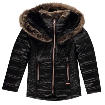 Geaca iarna Firetrap Luxe pentru fetite jet negru