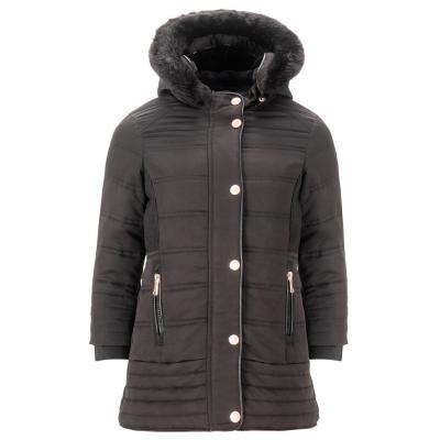 Geaca iarna Firetrap Luxury pentru fete pentru Bebelusi negru