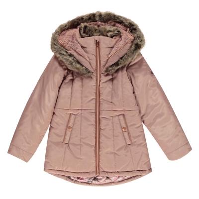 Geaca iarna Firetrap Luxury pentru fete pentru Bebelusi roz gri