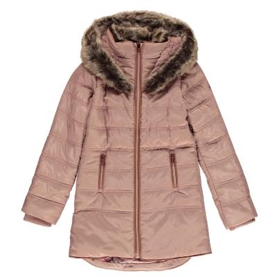Geaca iarna Firetrap Luxury pentru fetite roz gri