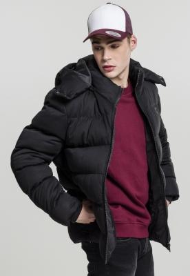 Jacheta cu gluga Boxy Puffer negru Urban Classics
