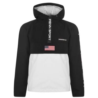 Jacheta cu Fermoar PENN USA pentru Barbati negru alb