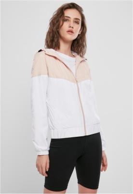 Geaca pentru vant Arrow pentru Femei roz-pudrat Urban Classics alb negru