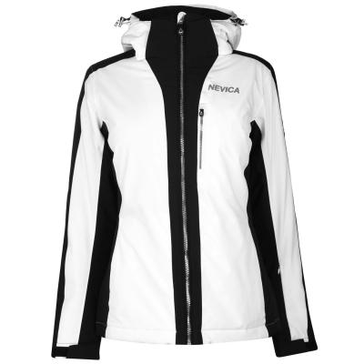 Geaca Ski Nevica Meribel pentru Femei alb negru