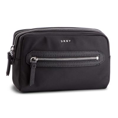 Geanta DKNY nailon Cosmetic negru argintiu