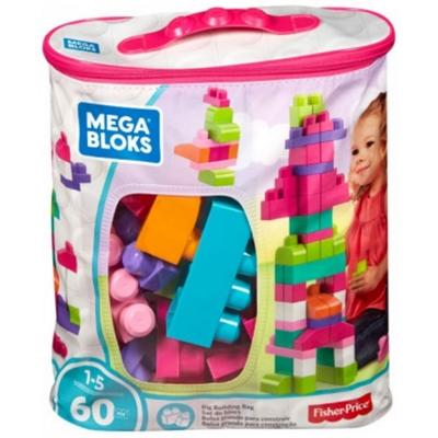 Geanta Mega Bloks 60 Piece Big Building albastru