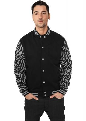 Geci colegiu barbati model zebra gri-negru Urban Classics
