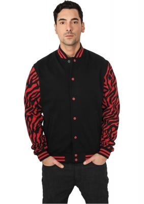Geci colegiu barbati model zebra rosu-negru Urban Classics