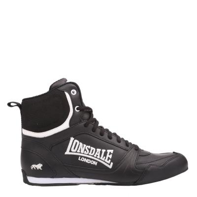Ghete box Lonsdale Juniors negru alb