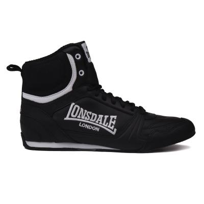 Ghete box Lonsdale pentru Barbati negru alb